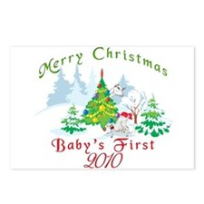 Goat-Christmas Babys First Postcards (Package of 8