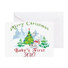 Goat-Christmas Babys First Greeting Card