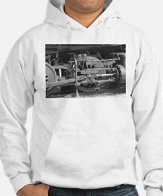 Old train black and white Jumper Hoody