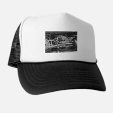 Old train black and white Trucker Hat