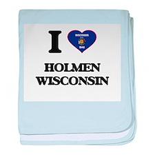 I love Holmen Wisconsin baby blanket