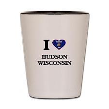 I love Hudson Wisconsin Shot Glass