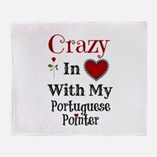Cute Portuguese pointer Throw Blanket