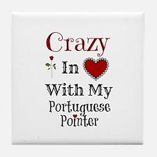 Cute Portuguese pointer Tile Coaster