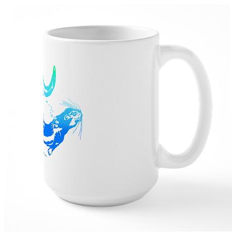 Otters Aquamarine Large Mug