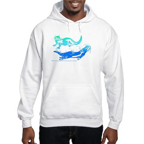 Otters Aquamarine Hooded Sweatshirt