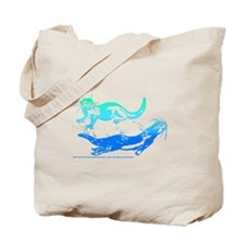 Otters Aquamarine Tote Bag