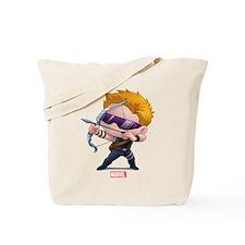 Chibi Hawkeye Stylized Tote Bag