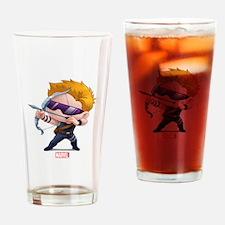 Chibi Hawkeye Stylized Drinking Glass