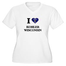 I love Kohler Wisconsin Plus Size T-Shirt