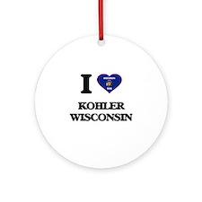 I love Kohler Wisconsin Ornament (Round)
