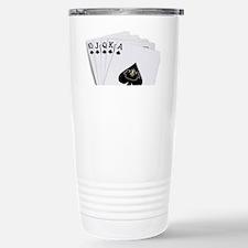 Funny Straight flush Travel Mug