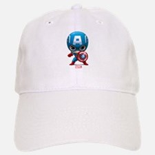 Chibi Captain America Stylized Baseball Baseball Cap