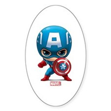 Chibi Captain America Stylized Decal