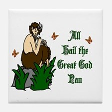 All Hail The Great God Pan Tile Coaster