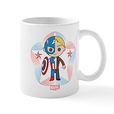 Chibi Captain America Stylized Badge Mug