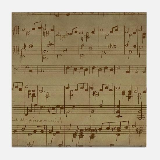 Unique Vintage sheet music Tile Coaster