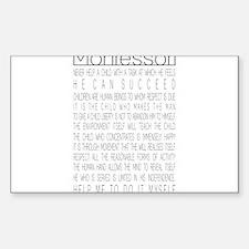 Cute Montessori school Sticker (Rectangle 10 pk)
