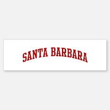 SANTA BARBARA (red) Bumper Bumper Bumper Sticker