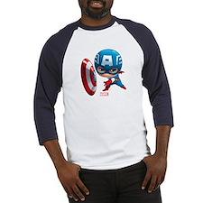 Chibi Captain America Stylized Baseball Jersey