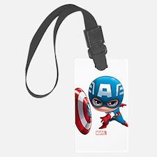 Chibi Captain America Stylized Luggage Tag