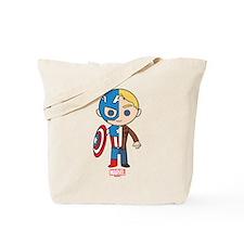 Chibi Captain America Half-and-Half Tote Bag