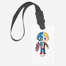 Chibi Captain America Half-and-H Luggage Tag
