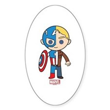 Chibi Captain America Half-and-Half Decal