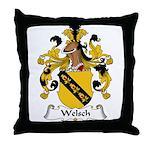 Welsch Family Crest  Throw Pillow