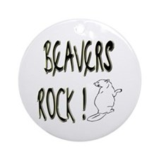 Beavers Rock ! Ornament (Round)