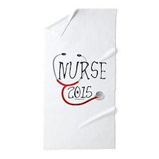 2015 Nurse Graduate Stethoscope Beach Towel