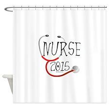2015 Nurse Graduate Stethoscope Shower Curtain