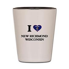 I love New Richmond Wisconsin Shot Glass