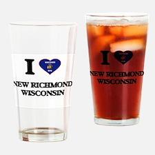I love New Richmond Wisconsin Drinking Glass