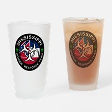 Mississippi Zombie Response Team Drinking Glass
