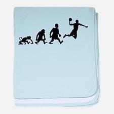 basket dunk darwin evolution baby blanket