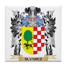 Alvarez Coat of Arms - Family Crest Tile Coaster