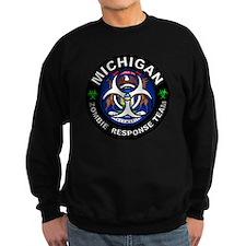 Michigan Zombie Response Team Wh Sweatshirt