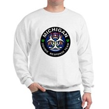 Michigan Zombie Response Team White Sweater