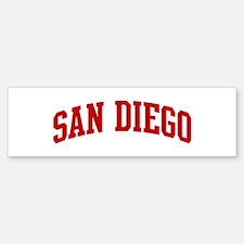 SAN DIEGO (red) Bumper Bumper Bumper Sticker