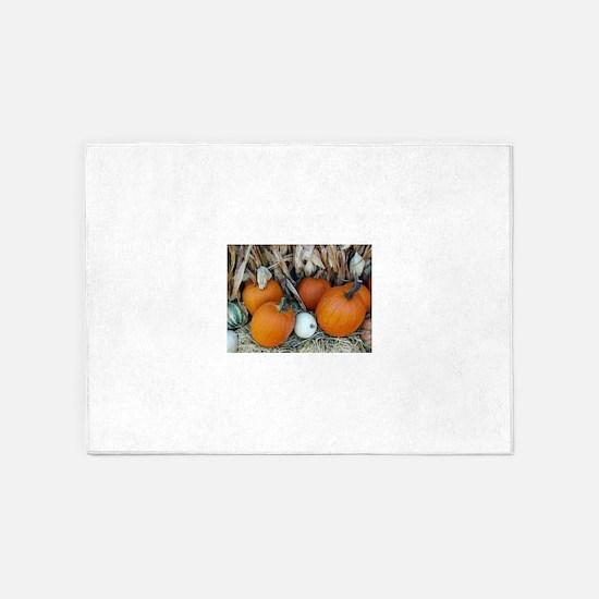 Pumpkin patch decor 5'x7'Area Rug