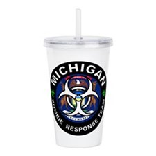 Michigan Zombie Respon Acrylic Double-wall Tumbler