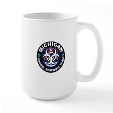 Michigan Zombie Response Team White Mugs