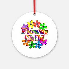 Retro Flower Child Ornament (Round)