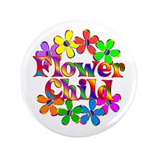 Retro Flower Child Button