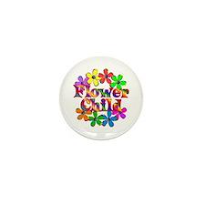 Retro Flower Child Mini Button
