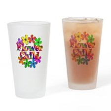 Retro Flower Child Drinking Glass