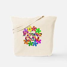 Retro Flower Child Tote Bag