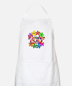 Retro Flower Child Apron