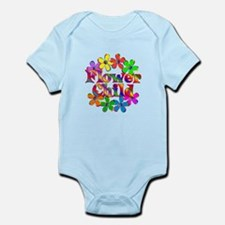 Retro Flower Child Infant Bodysuit